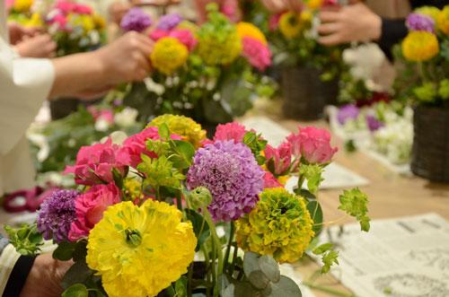 明るいお花たち